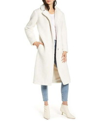 White Fleece Coat