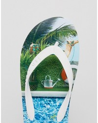 73853cd04 ... Ted Baker Flyxx Pool Print Flip Flops ...