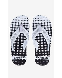 Express Gradient Dot Flip Flop Black And White