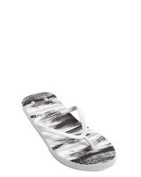 Rick Owens Graphic Print Rubber Flip Flops