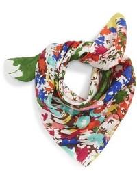 Sole Society Floral Print Silk Bandana