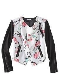 Jaya apparel group llc xhilaration juniors moto jacket floral xs medium 78650