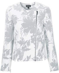 Premium structured biker jacket in pretty floral print 81 cotton 19 polyester dry clean only medium 78648