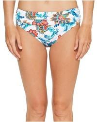 White Floral Bikini Pant