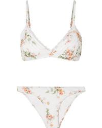 Zimmermann Heathers Med Floral Print Triangle Bikini