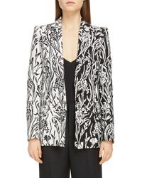 Givenchy Floral Jacquard Blazer