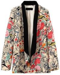 Floral Print Loose Blazer