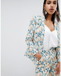 ASOS DESIGN Tailored Jacquard Wisteria Floral Blazer Co Ord