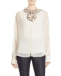 See by Chloe Floral Embellished Georgette Blouse