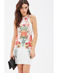 Forever 21 Scuba Knit Photo Floral Dress