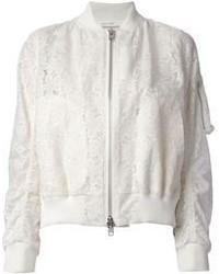 White Bomber Jacket | Women's Fashion