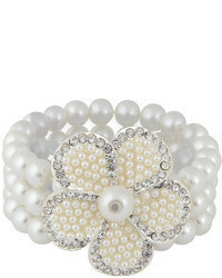 2 in 1 faux pearl bracelet flower pin medium 70577