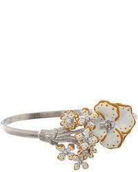 Alexander McQueen Skull Pearl Flower Bracelet