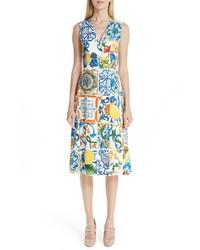 Dolce & Gabbana Tile Print Brocade Dress