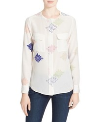 Equipment Lynn Floral Print Silk Blouse