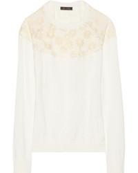 Nina Ricci Burnout Effect Mesh And Jersey Sweater