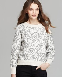 Rebecca Taylor Sweater Floral Jacquard Pullover