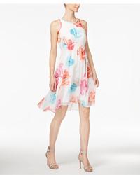 Calvin Klein Printed Tie Back Babydoll Dress