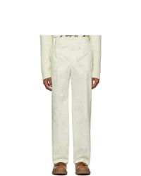 Jacquemus White Le Pantalon Moulin Trousers