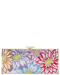 Judith Leiber Crystal Embellished Floral Minaudire