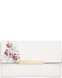 Embroidered floral clutch medium 3674463