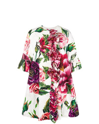 Dolce & Gabbana Peony Print Overcoat
