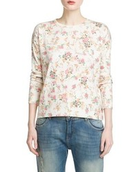 Mango Outlet Floral Print Sweater