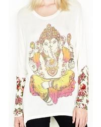 Lauren Moshi White Elephant Sweater