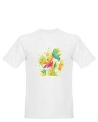 Artsmith Inc Organic T Shirt Watercolor Floral Flowers