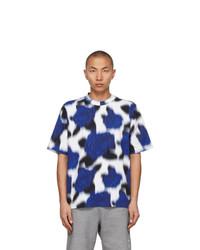 Kenzo Blue And Black Print Skate T Shirt