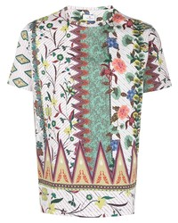 Etro Floral Short Sleeve T Shirt