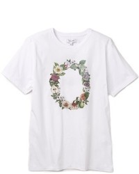 Flower printed t shirt medium 216942