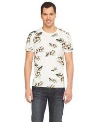 No Retreat Floral Print T Shirt White