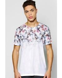 Boohoo Ombre Yoke Floral T Shirt