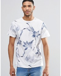 Pull&Bear T Shirt With Floral Print In White