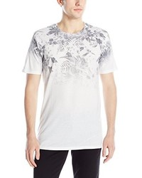 Sovereign Code Horizon Floral Print Faded T Shirt
