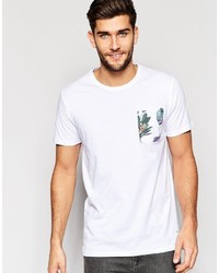 ONLY & SONS T Shirt With Floral Printed Pocket