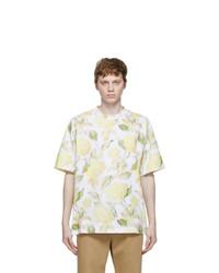 Kenzo White Floral Print Skate T Shirt