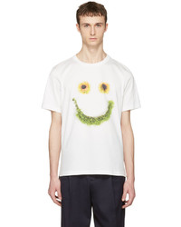 White floral smiley t shirt medium 1249895