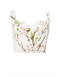 Dolce & Gabbana Almond Blossom Print Bustier Bra