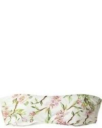 Dolce & Gabbana Floral Bandeau Crop Top