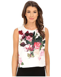 Vince Camuto Sleeveless Rose Bouquet Shell