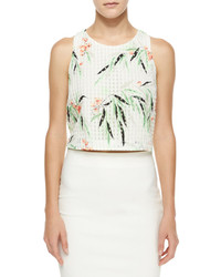 Elizabeth and James Terri Floral Crop Top Whitemulticolor