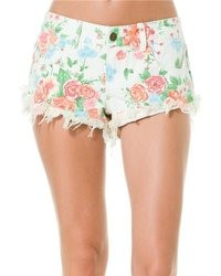 Laneway floral denim short medium 25482