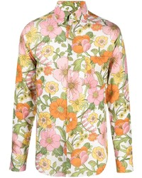 Tom Ford Floral Print Button Down Shirt
