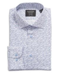 Nordstrom Trim Fit Floral Stretch Non Iron Dress Shirt