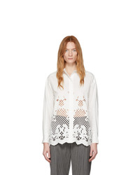 See by Chloe White Poplin Embroidery Shirt