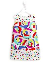 Moschino Kids Abstract Floral Print Dress