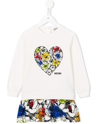 Moschino Kids Floral Print Sweatshirt Dress