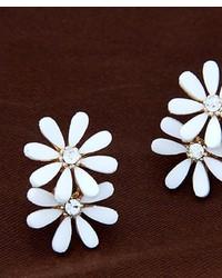 ChicNova Floral Diamante Earrings